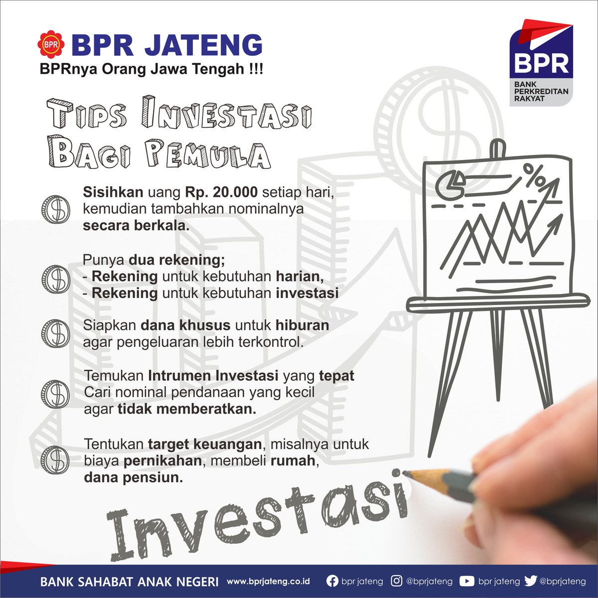 Berbagi Tips investasi ke masa depan yang lebih baik... semoga bermanfaat > > >  #investasi #tabungan #bprjateng #semarang #rumah #danapensiun #Indonesia #KreditCepat #kreditmudah #Kreditmurah #Semangat #finance #jatenggayeng #jateng #jawatengah #bank #bpr #bankperkreditanrakyatpic.twitter.com/U3P0zxk8Lu