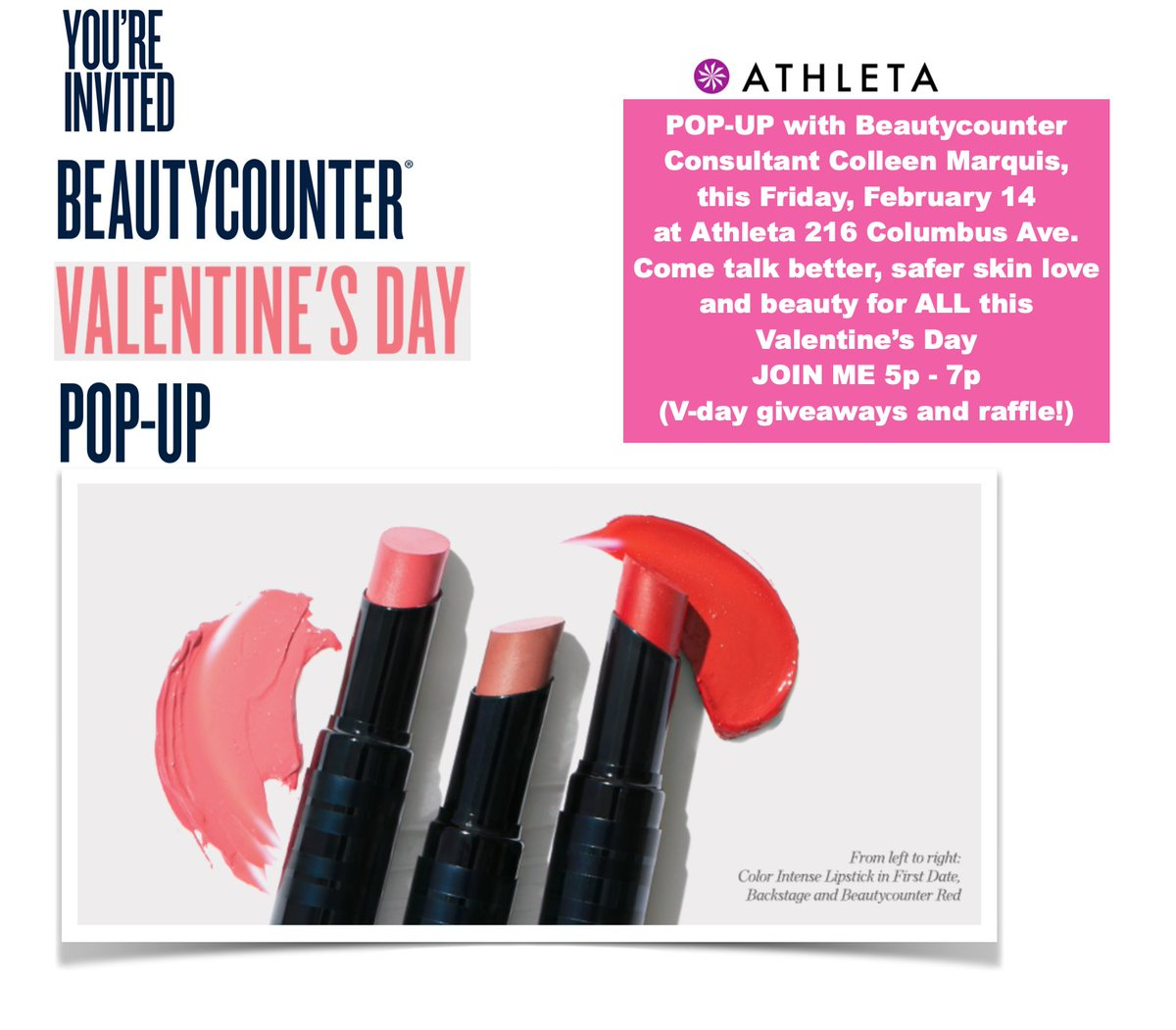 #NYC #VDAY #galentines #BeMyValentine #SelfLove #BetterBeauty #cleanbeauty  #nontoxicbeauty  @beautycounterhq  #PopUp  @Athleta  #chocolate #UWS #wouldyoubemine  #countertime #counterman  Treat yourself to some nice #yogaclothes and #Beautycounter http://beautycounter.com/colleenmarquispic.twitter.com/k9hC6mKIC3