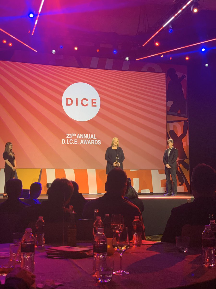 😭 totally crying! congratulations Connie Booth on entering the @Official_AIAS #DICE2020 Hall of Fame. So deserving and grateful for your partnership with @Naughty_Dog and friends @insomniacgames @BendStudio @Pixelopus and more! Congratulations!!