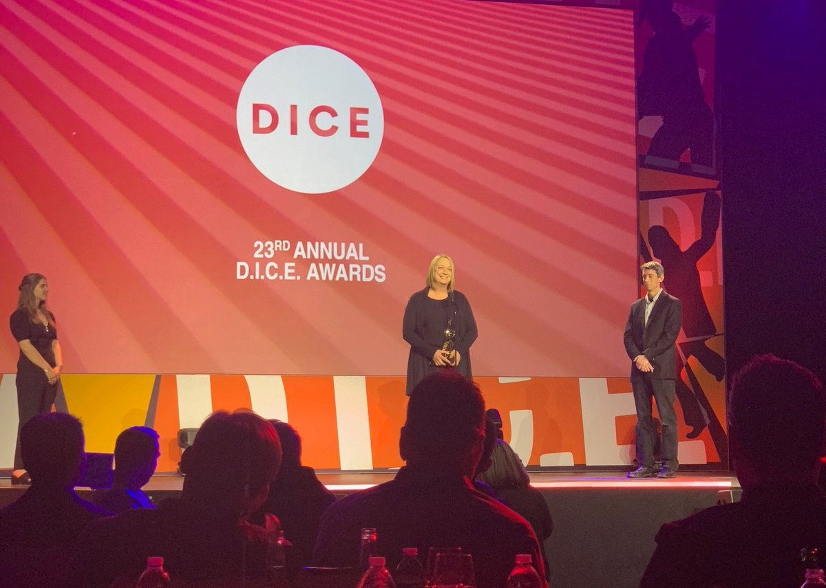 Congratulations to @PlayStation's Connie Booth on being inducted into the @Official_AIAS Hall of Fame at #DICE2020! Thank you for the many years of support and playing such a pivotal part of our studio's history.