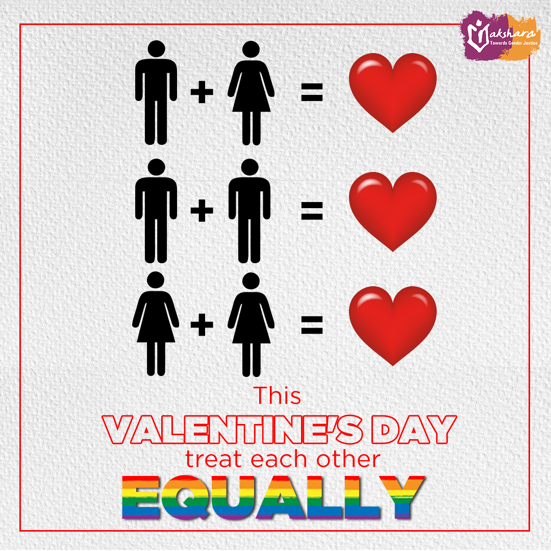 Love knows no gender. Happy Valentine's Day!  #ValentinesDay #Valentines #ValentinesGift #LGBT #LGBTQ #BornEquALL #GenderEquality #Gender #Equality #Thoughts #Youth #EqualityForAll #EqualityForEveryone #EqualityForWomen #Valentines2020 #ValentinesWeekendpic.twitter.com/bKaUfHwFX0