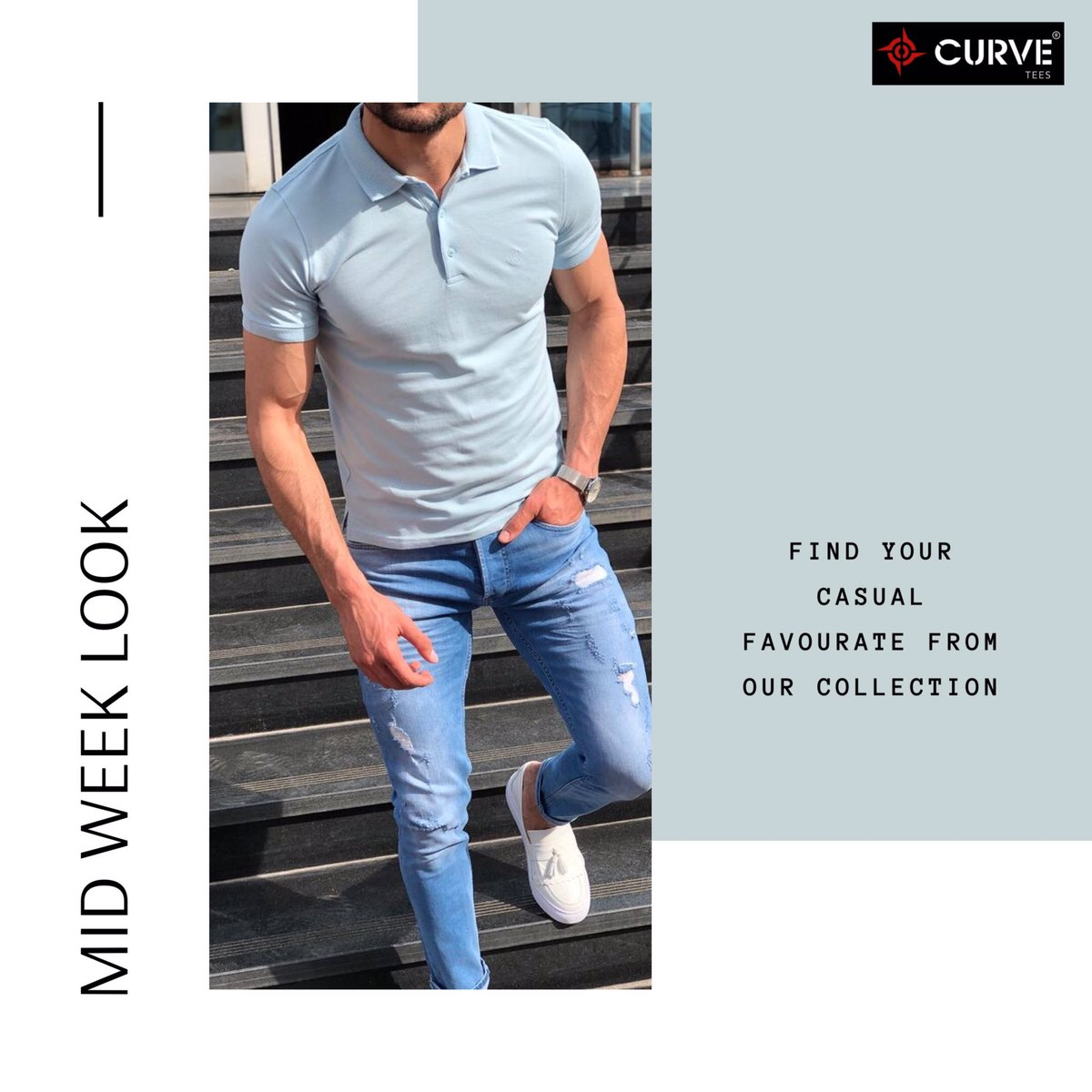 Perfect look for casual Friday from Curve Garments. . . . #ReadywithCurveTees #fashionformen #fridaylookpic.twitter.com/GTcFFaPvCc