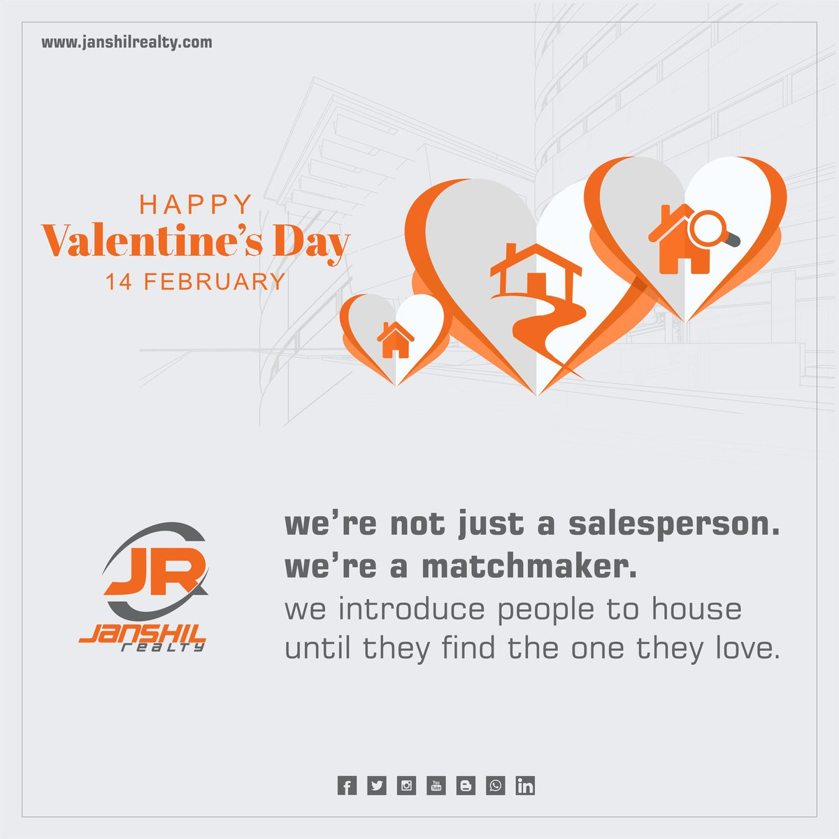 We're not just #salesperson we're a #matchmaker we introduce people to #house until they find the one they #love #happyvalentinesday  #realestate #property #Investment  #propertymanagement #Realtor #janshilrealty #southbopal  #Ahmedabad #propertymanagment #PropertyInvestmentpic.twitter.com/LQIlYRSvXQ
