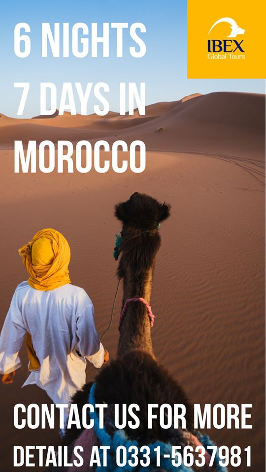 Morocco tour dates: 26th March to 1st April 2020 Contact us at 0331-5637981  #Morocco #tourism #javedchaudhry #ibexglobal #travel #Moroccotour #holiday #tourism #travelling #explore #grouptour