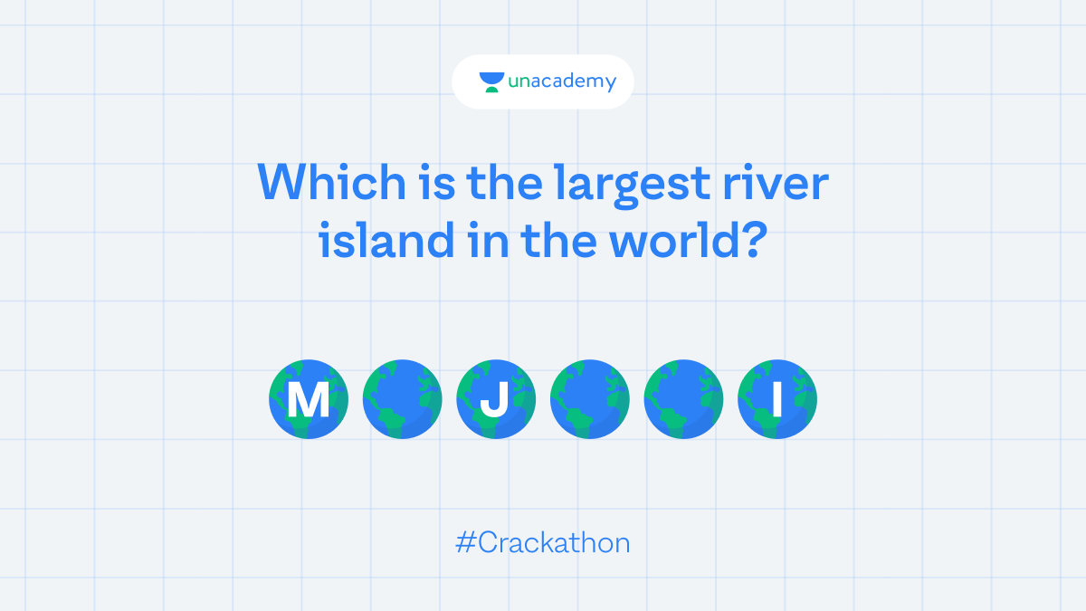 Hint: It's an island in Assam. Participate and stand a chance to win exciting goodies!  #LetsCrackIt #ContestAlert #Crackathon #ContestAlertIndia
