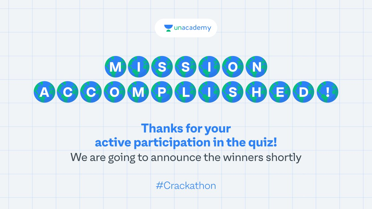 We loved your zeal in participating in the Geography Crackathon. Keep your fingers crossed for the winner announcements! Surprise goodies coming your way. #LetsCrackIt #ContestAlert #Crackathon #ContestAlertIndia