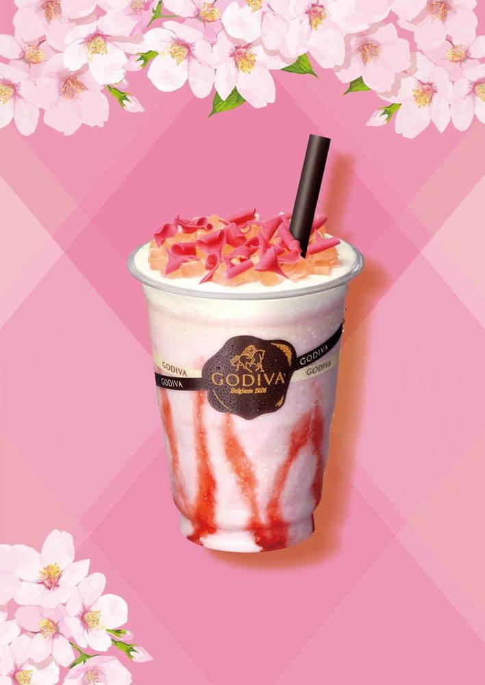 画像,ゴディバ「ショコリキサー さくら」桜×ホワイトチョコレートの春限定ドリンク、桜ゼリーをトッピング - https://t.co/KXv0O1WJsq https…
