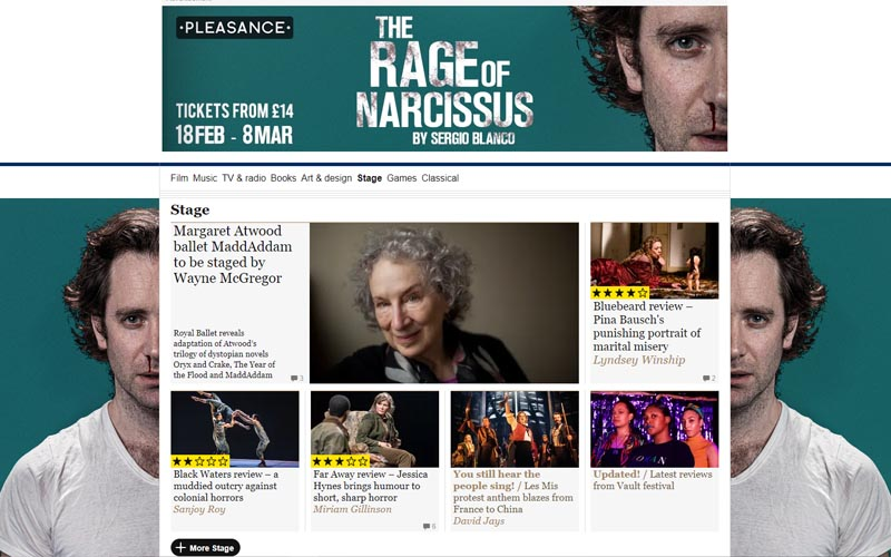 It's a full Narcissus takeover at @guardianstage today! 😍