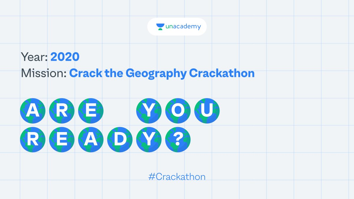 Tune in to the Geography Crackathon this Sunday at 12:00 PM and win exciting goodies. Challenge your friends to participate with you!   #LetsCrackIt #Crackathon #ContestAlert #ContestAlertIndia