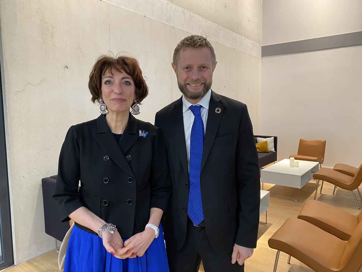 Very productive meetings in #Oslo  between @MarisolTouraine , chair of the @UNITAID  executive board, and health minister @BentHHoyre , director gen. @bardvegar  NORAD, state secretary @AkselJakobsen3  #globalhealth