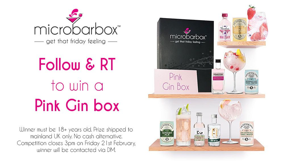 It's #FreebieFriday! #Follow & #RT to #win a Pink Gin #MicroBarBox. Good Luck! #competition #giveaway #FridayFeeling #retweet #Valentines2020  Check out the prize here: https://buff.ly/3bjDtb8
