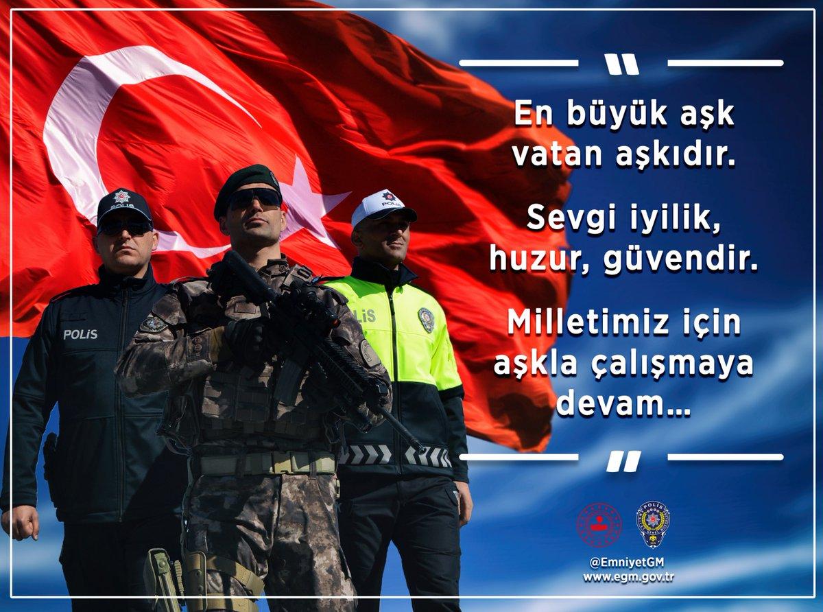 RT @EmniyetGM: Aşk güzeldir karşılığı varsa ❤ Karşılıksız da sevilir söz konusu vatansa 🇹🇷  #14şubatsevgililergünü https://t.co/CjxL56vbGY