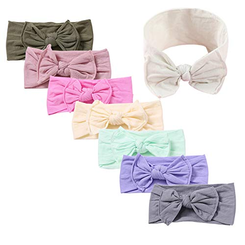 Baby Girl Headbands and Bows Nylon Hairbands Hair Bow Accessories for Newborn