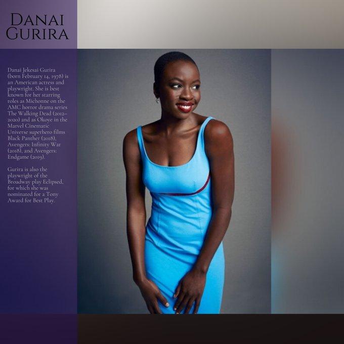 Happy birthday to Danai Gurira.