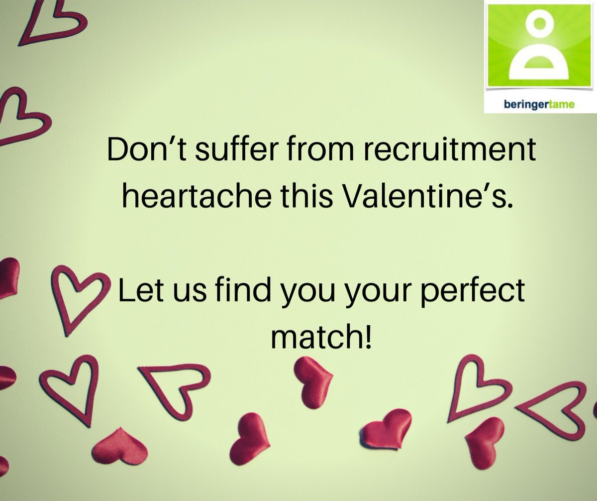 Why not let our expert matchmakers find you your perfect match this Valentine's! #digitalmarketingrecruitment #ecommercejobs #recruitmentconsultants Remove Photo pic.twitter.com/9zjsbOW5CP