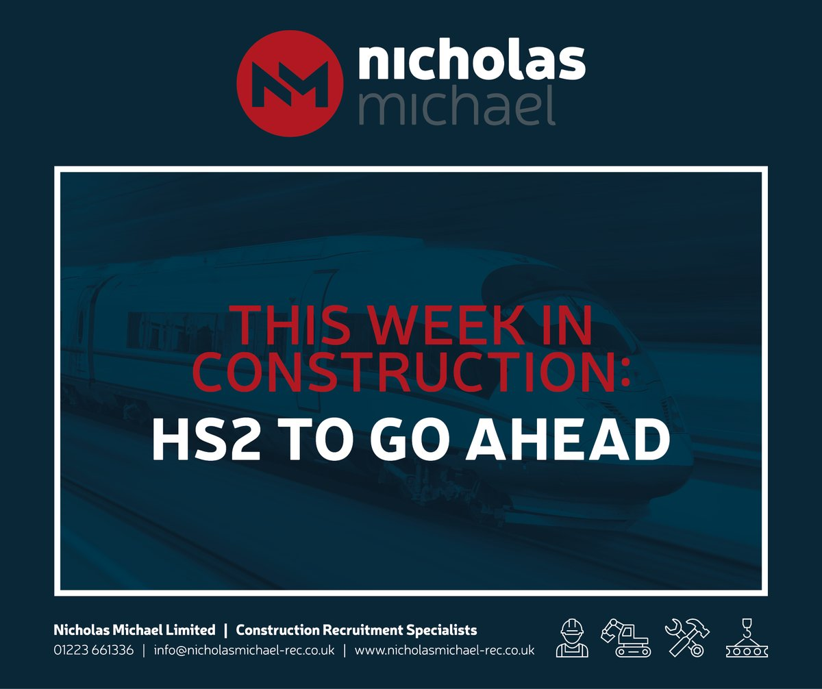 This week HS2 was given the green light by the government, which will have a big impact on the Construction Industry - Construction News have called it a 'powerful force for change' - find out more here: https://bit.ly/37mYcru   #hs2 #construction #constructionrecruitment pic.twitter.com/qpsBTGUbeb