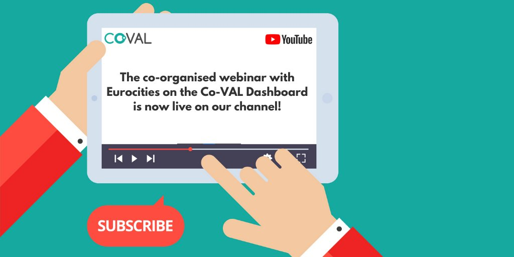 The webinar on the #CoVAL_eu Dashboard: The Opportunities Behind Sharing Best Practice in #CoCreation is now #LIVE on our channel https://youtu.be/6pfLyPrX1oM  @EUROCITIEStweetpic.twitter.com/GNN9E9LLm1