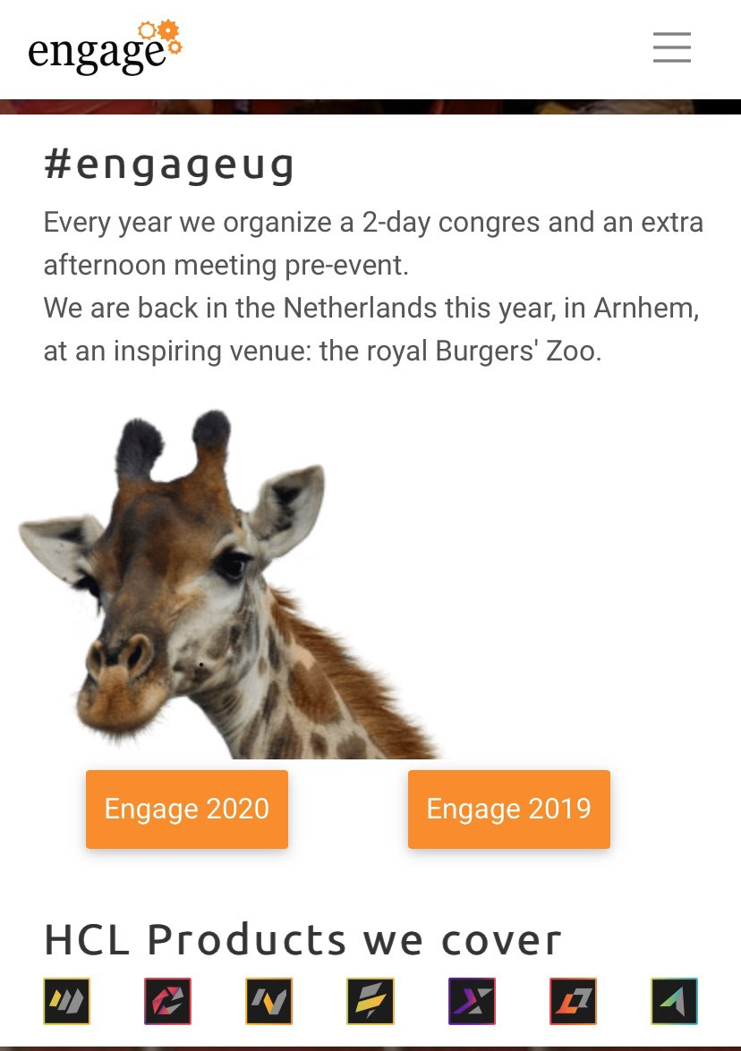 I'm looking forward to seeing some #dominoforever and #letsconnect live demos! Is the rumour that you're doing a live demo true, @RichardJefts?! #EngageUG @HCLDigital