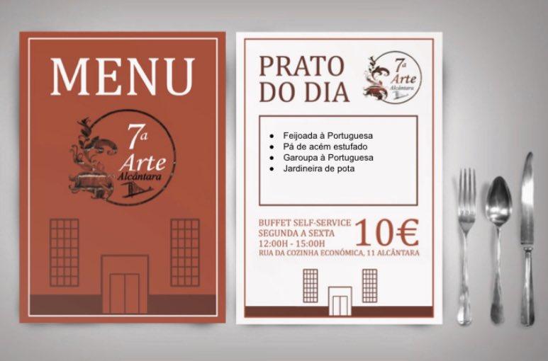 A ementa perfeita para um amor incrível!  Até já  Reservas : 963488059 R. Cozinha Económica 11, 1300-149 Lisboa  #setimaarte #alcantara #buffet #food #ttasty #delicious #canapes #bistro #menu #daily #restaurante #restaurant #lunchpic.twitter.com/mNmZlbqSQ2