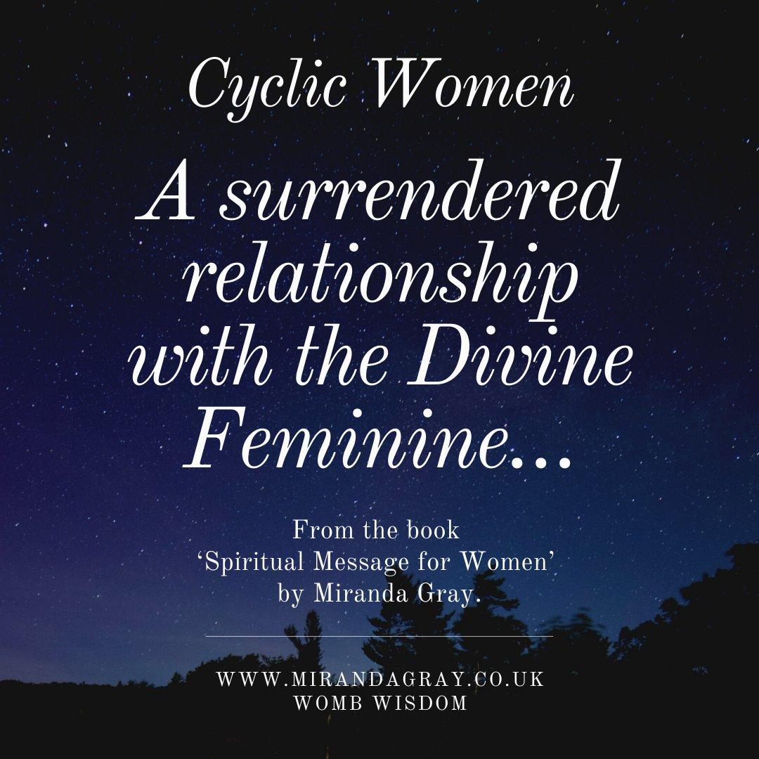 In each phase we experience a different relationship with the Divine Feminine We were created female not to have a single relationship with the Divine, but to have one that flows through four expressions. #wombwisdom #wombblessing #mirandagray #womb #femaleenergyawakeningpic.twitter.com/rWwpmdxMj1
