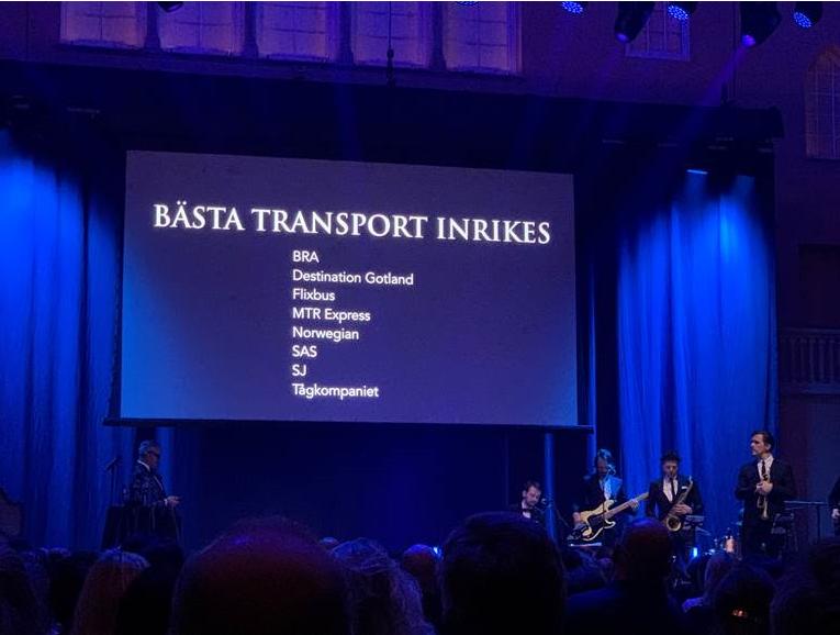 """Igår var vi på #GrandTravelAward2020! FlixBus var det enda bussbolaget nominerad till """"Bästa transport inrikes""""!🥳 Det blev inget pris i år men vi är stolta och glada att ha blivit nominerade! Vi ser fram emot GTA 2021 med både FlixBus och FlixTrain i reseportföljen! 🚌🚆💚 https://t.co/HUmxQjBGZJ"""