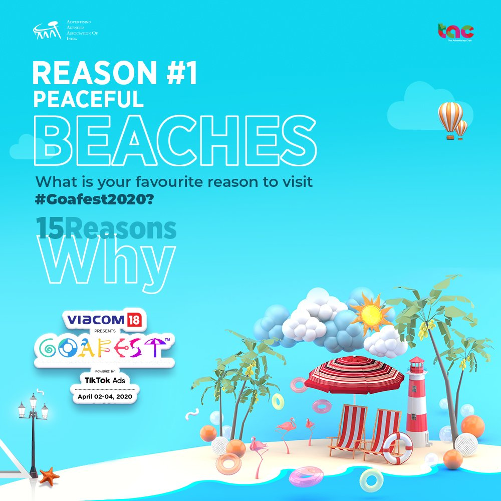 #ContestAlert  Goa's Insta-beaches, need we say more? What is your reason to drop everything and join the biggest creative carnival? Fill the comments section with your answers and stand a chance to win Amazon Gift Vouchers!   T&C Applied -  https://bit.ly/2vAbiEQ #Goafest2020