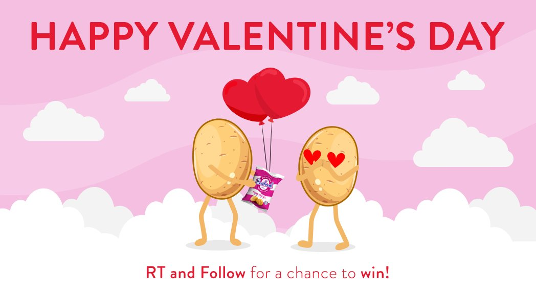 Happy Valentines Day from everyone at Seabrook Crisps! #RT & #Follow for the chance to #win a box of crisps! (UK Only)