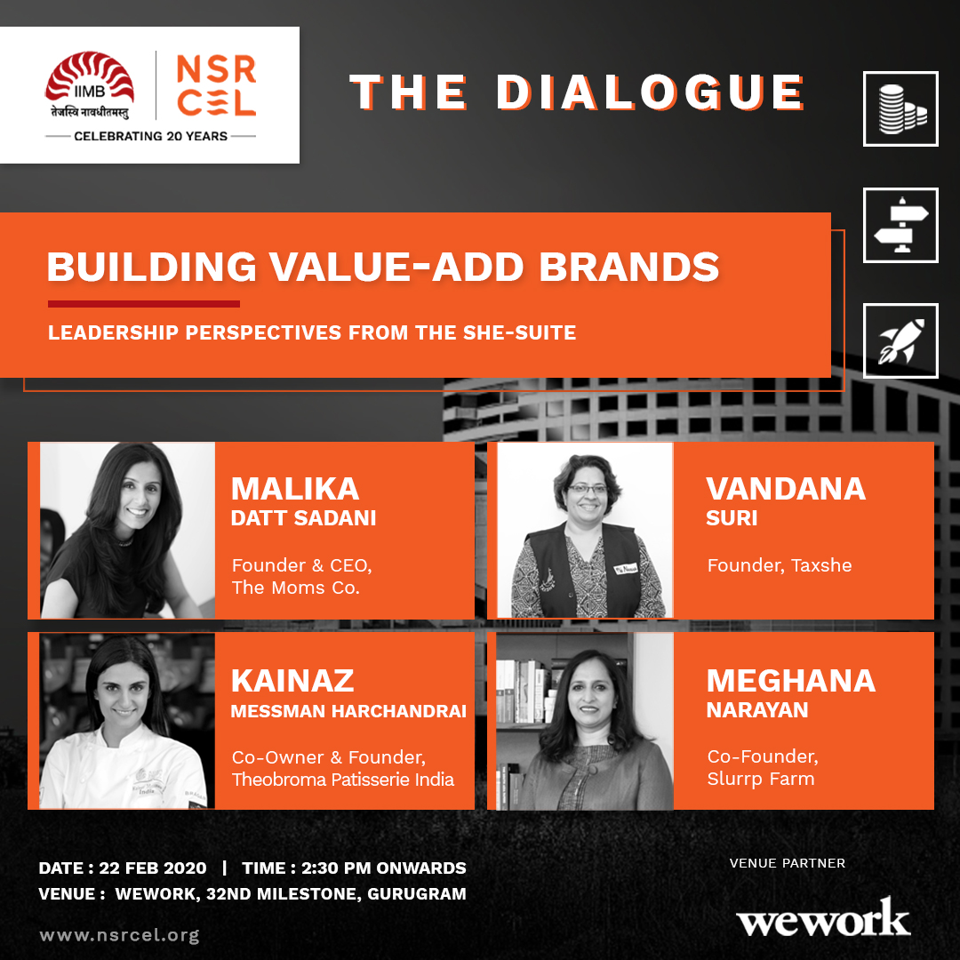 🚨7 days to go🚨 Have you registered yet?   Join us for #TheDialoguebyNSRCEL on 22nd February 2020 and meet our line up of #femalefounders at WeWork, 32nd Milestone by signing up here   👉  #startupsofNCR #startupIndia #WhenWomenLead