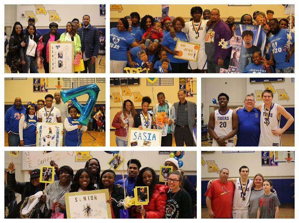 Scenes from basketball/cheer senior night. #hpsdtigers