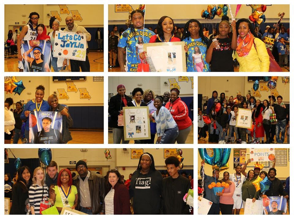 More family pics from last night's celebration of our cheer and basketball seniors. #hpsdtigers
