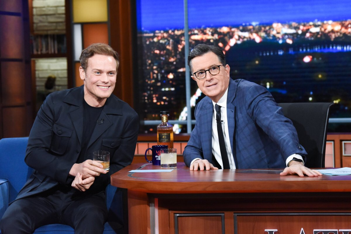 Did you miss @SamHeughan on @colbertlateshow ?? Lucky for you, we have it all right here.