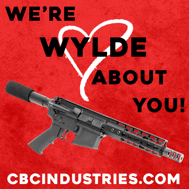 It's Valentine's Day! We enjoy long, romantic walks to the range, sunrises from a hunting blind, and boxes of ammo. Will you be our Valentine?  #cbcindustries #valentinesday #valentine #wylde #pewpew #ar #arkit https://t.co/LgZWLPmVBh