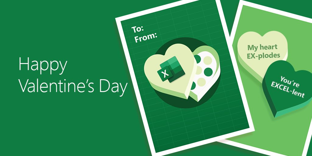 Send your Valentine an EXCEL-lent surprise with this ecard. #HappyValentinesDay