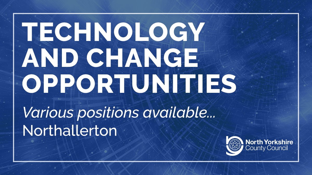 We have a number of vacancies available in our #Technology and Change service, ranging from entry level to senior positions...  Apply today and be part of the team taking us into the future: https://www.northyorks.gov.uk/technology-and-change-opportunities …  #Jobs #HiringNow #TechJobs #ITJobs #TechnologyJobs #ITpic.twitter.com/I0xbGuUoDL