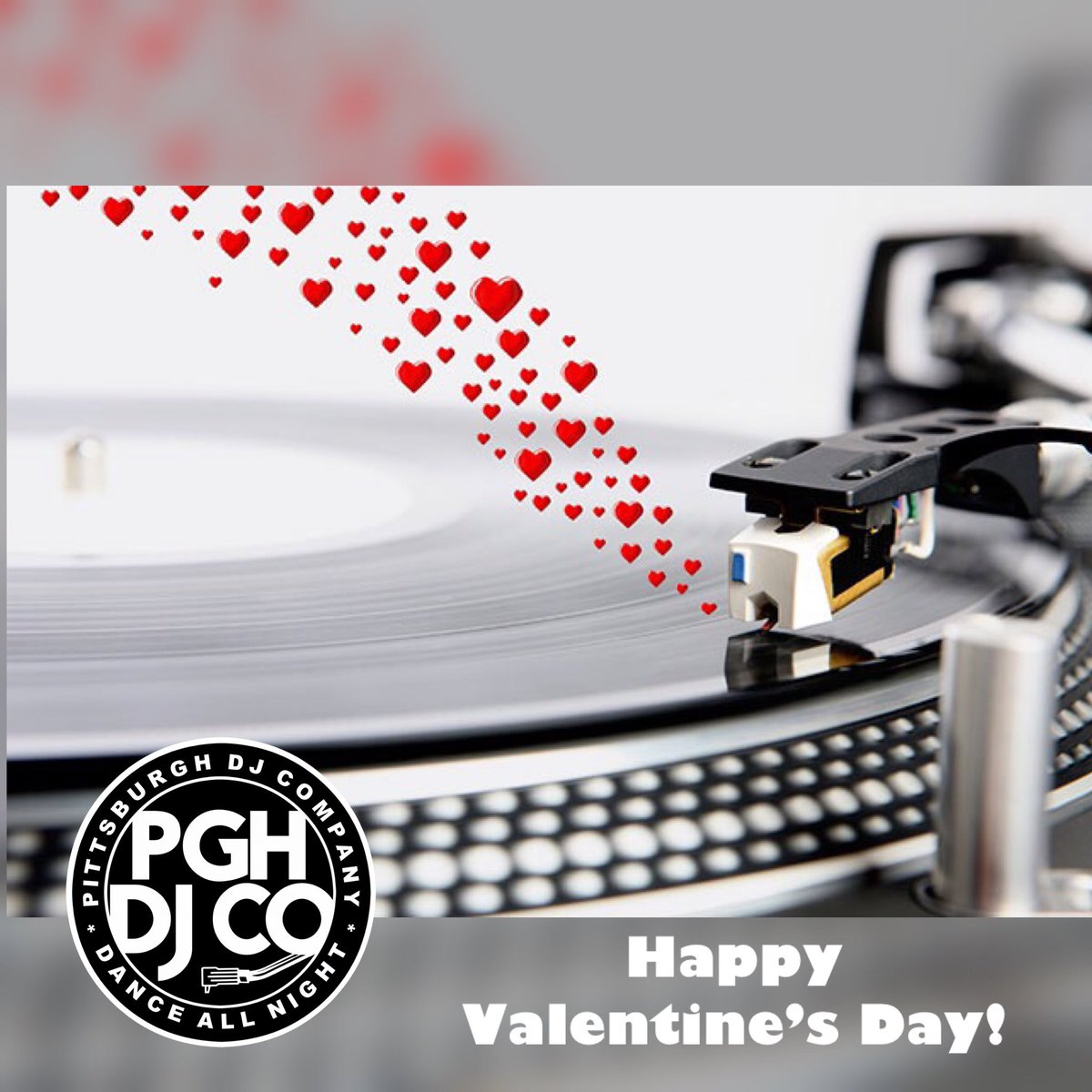 Happy Valentine's Day from Pittsburgh DJ Company! May this day be filled with love! #PittsburghDJ #PittsburghWeddingDJ #PittsburghEventDJ #valentinesday #HappyValentineDaypic.twitter.com/BFiuLwEkjY