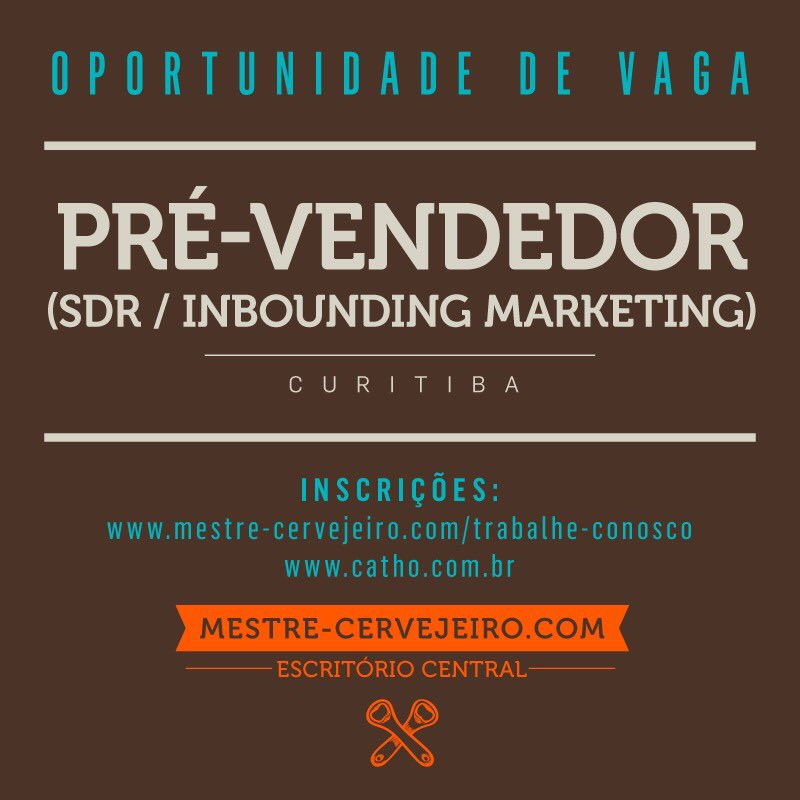 Vaga aberta!! Caso tenha interesse me avise   #vagadeemprego #vagaaberta #oportunidadedeemprego #maquinadevendas #inboundmarketing #sdr #empregoemcuritibapic.twitter.com/auuE8uah8A