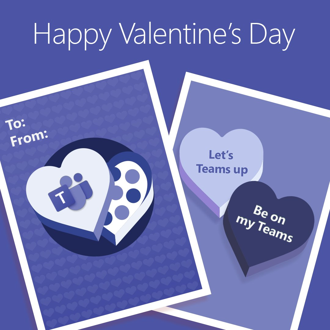 Spread the love with a #HappyValentinesDay card from #Microsoft365