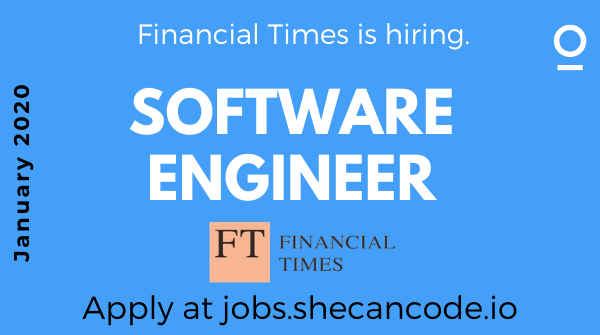 Is your core skill set & expertise #webdevelopment? If yes, 👉https://jobs.shecancode.io/jobs/27381351-software-engineer-at-the-financial-times…@FT are committed to equality and #diversity across their workforce and consider part time roles and #flexibleworking hours to help support this.  #techjobs #womenintech #softwarengineer #tech