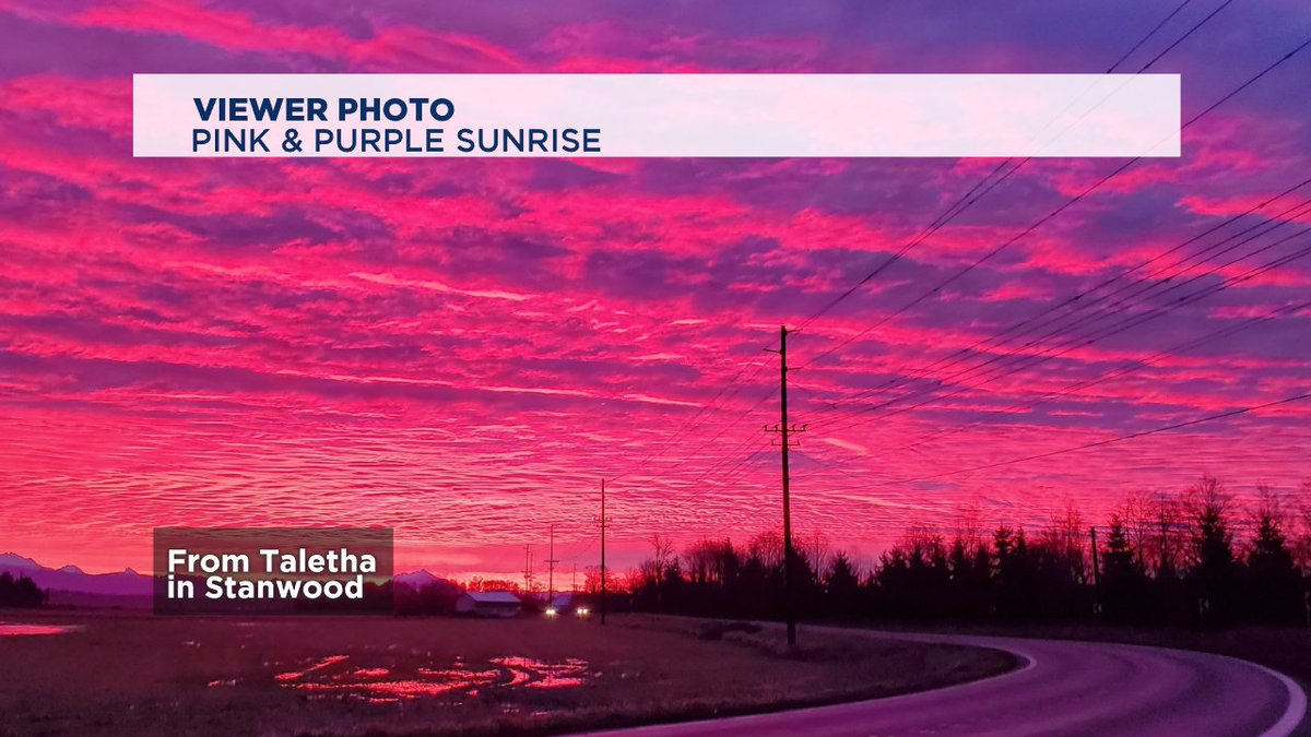 For your Valentine's Day - a couple of pink and purple skies from viewers.  #Q13FOX