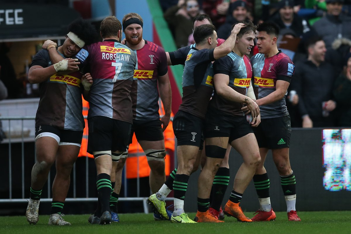 All the best for tomorrow @Harlequins 🆚 London Irish ⌚️ 15:00 (GMT) 🏟️ The Stoop 🏆 Premiership #⃣ #COYQ #DHLRugby