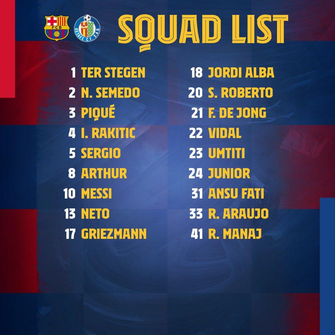 The 1️⃣8️⃣ for #BarçaGetafe!