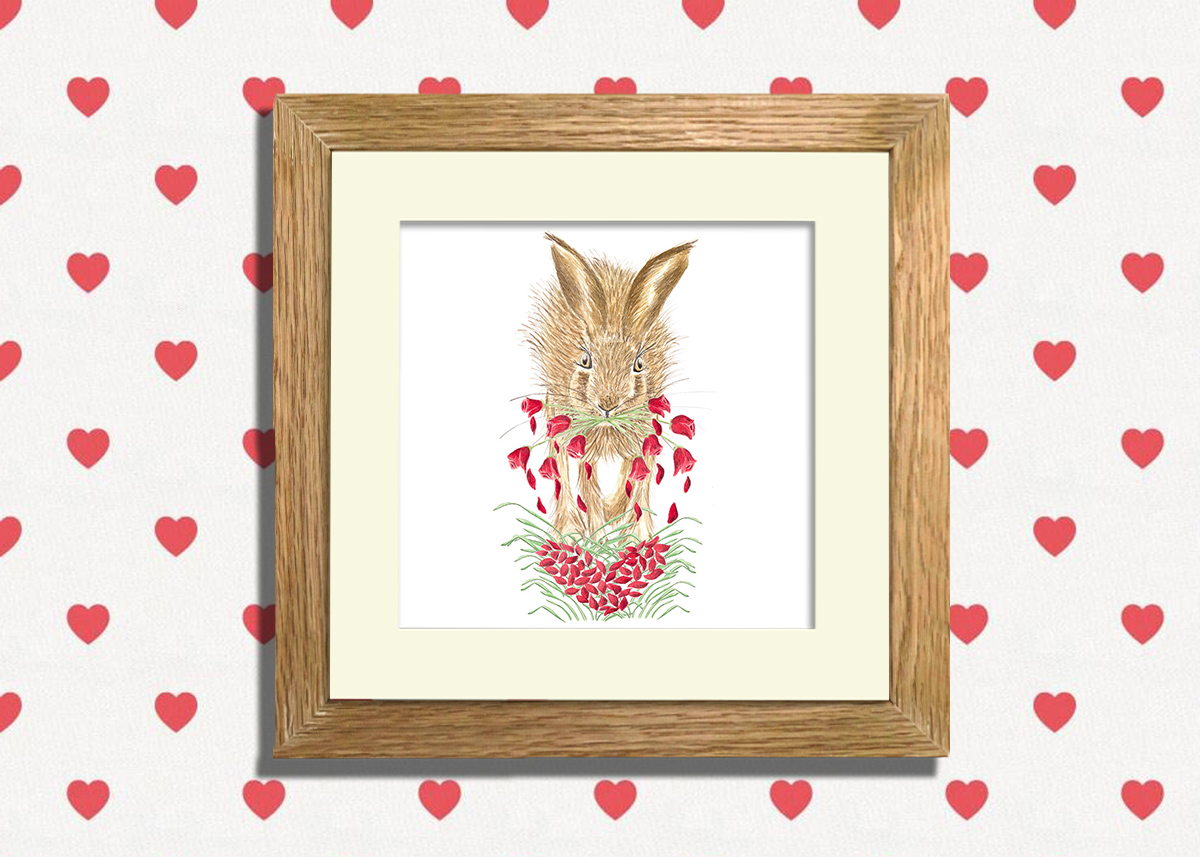 """Happy Valentines to you all...⠀ ⠀ """"The petals of my heart, bloom for you.......""""  https://loom.ly/JYkRoEo  #animalillustration #watercolourillustration #illustration #watercolourart #Helenparryart  #valentinesdaycard  #wildlifeart #hare #ValentinesDay #RedRosepic.twitter.com/lEh9GSeHIp"""