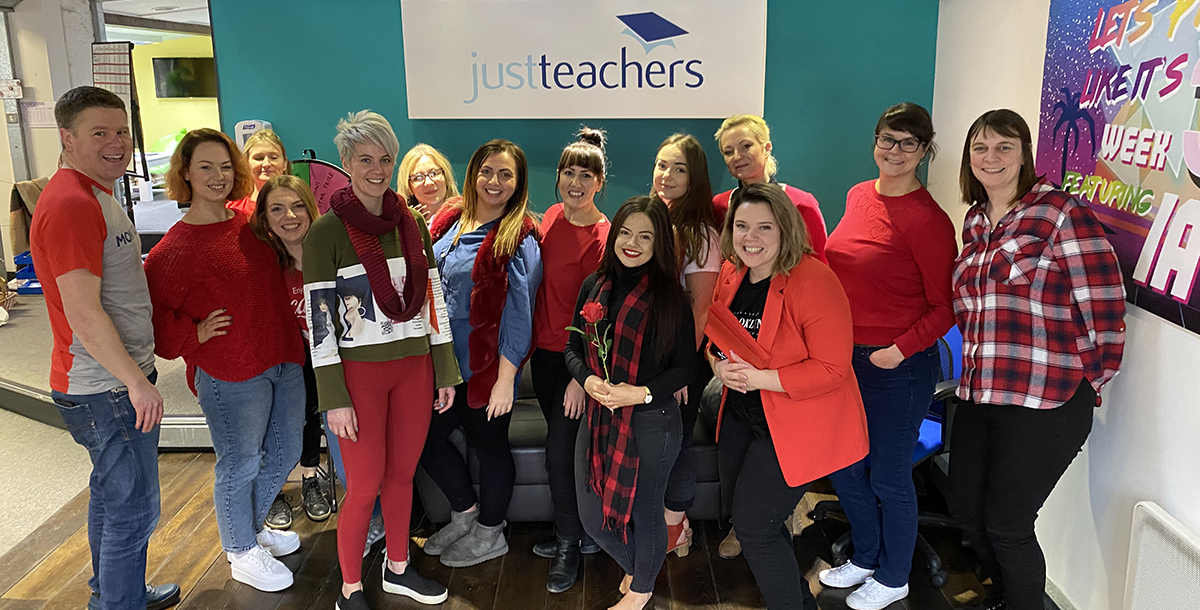 test Twitter Media - justteachers Head Office feeling the love on Valentine's day and raising money for @Selfa_Charity #WearRedForSelfa #charity #raisingmoney #fundraising  #support #community #children https://t.co/oSbKF46HYs