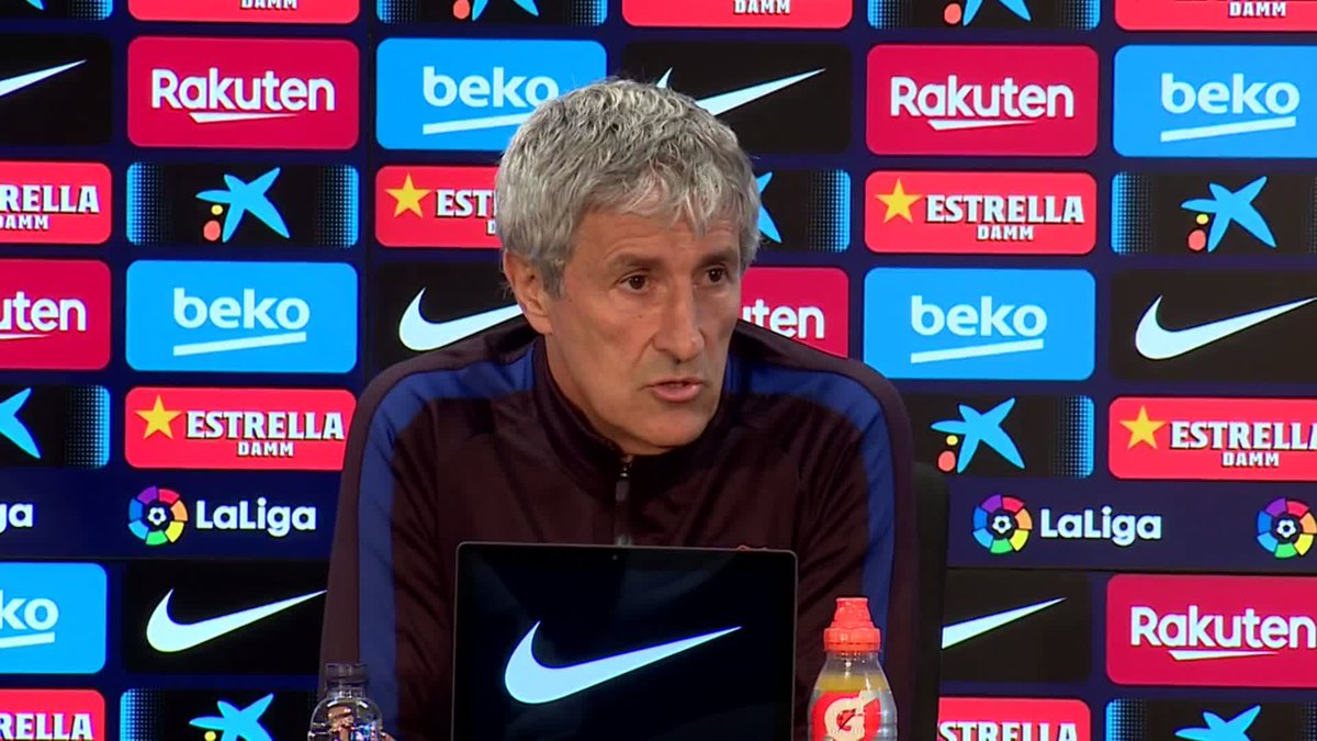 🗣 @QSetien talks about the opposing styles presented by Barça and Getafe ...