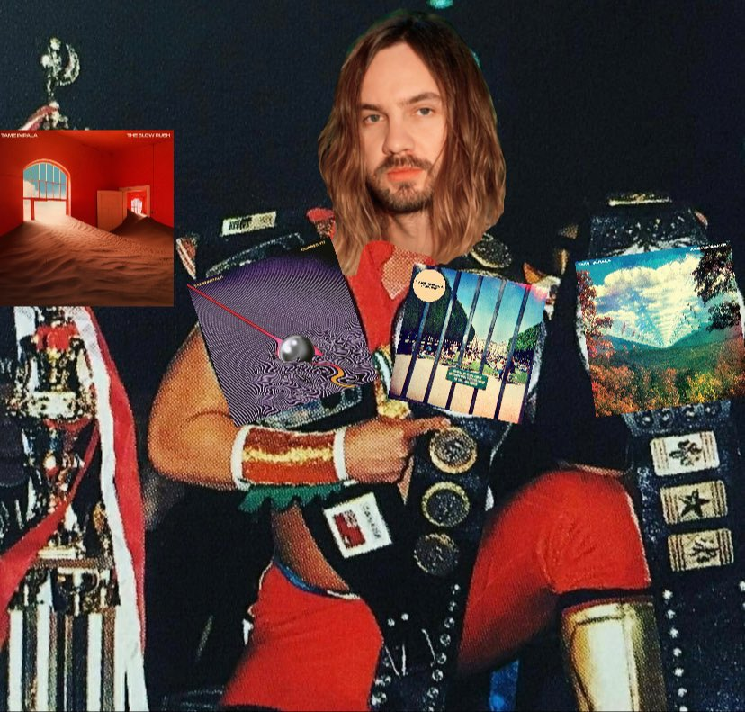 Kevin Parker, undisputed four time champion #TameImpala #TheSlowRush pic.twitter.com/FwtEdsd6Xr