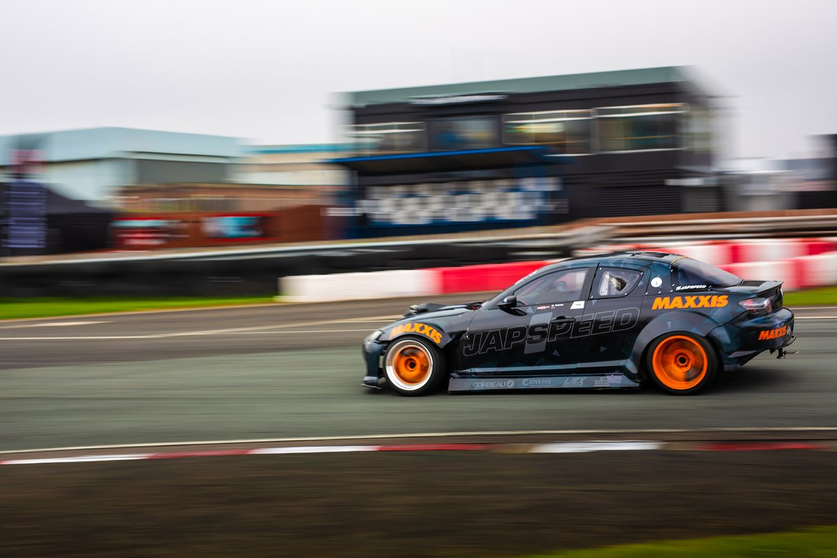 It's not often you get a picture of Matt Denham not going sideways, savor it while you can. #japspeed #teamjapspeed #mattdenham #drift #drifting #driftcar #mazda #rx8 #mazdarx8 #v8 #engineswap #bdc #bdc2020 #britishdriftchampionship #2020bdc #maxxis #round1 #sorry #jdm #racecar