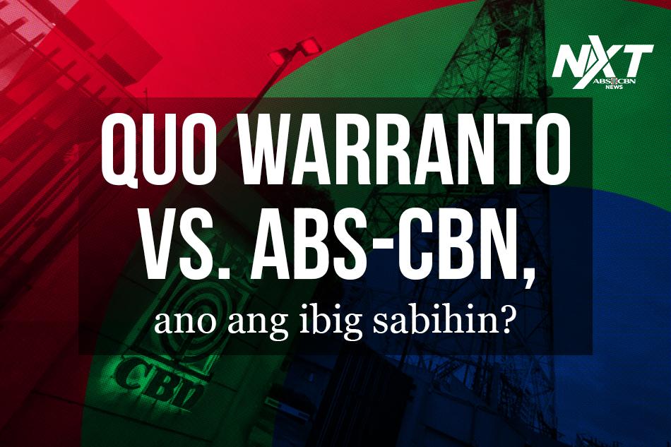 Himayin natin ang mga isyu na nakapaloob sa quo warranto petition ni Solicitor General Jose Calida laban sa ABS-CBN.
