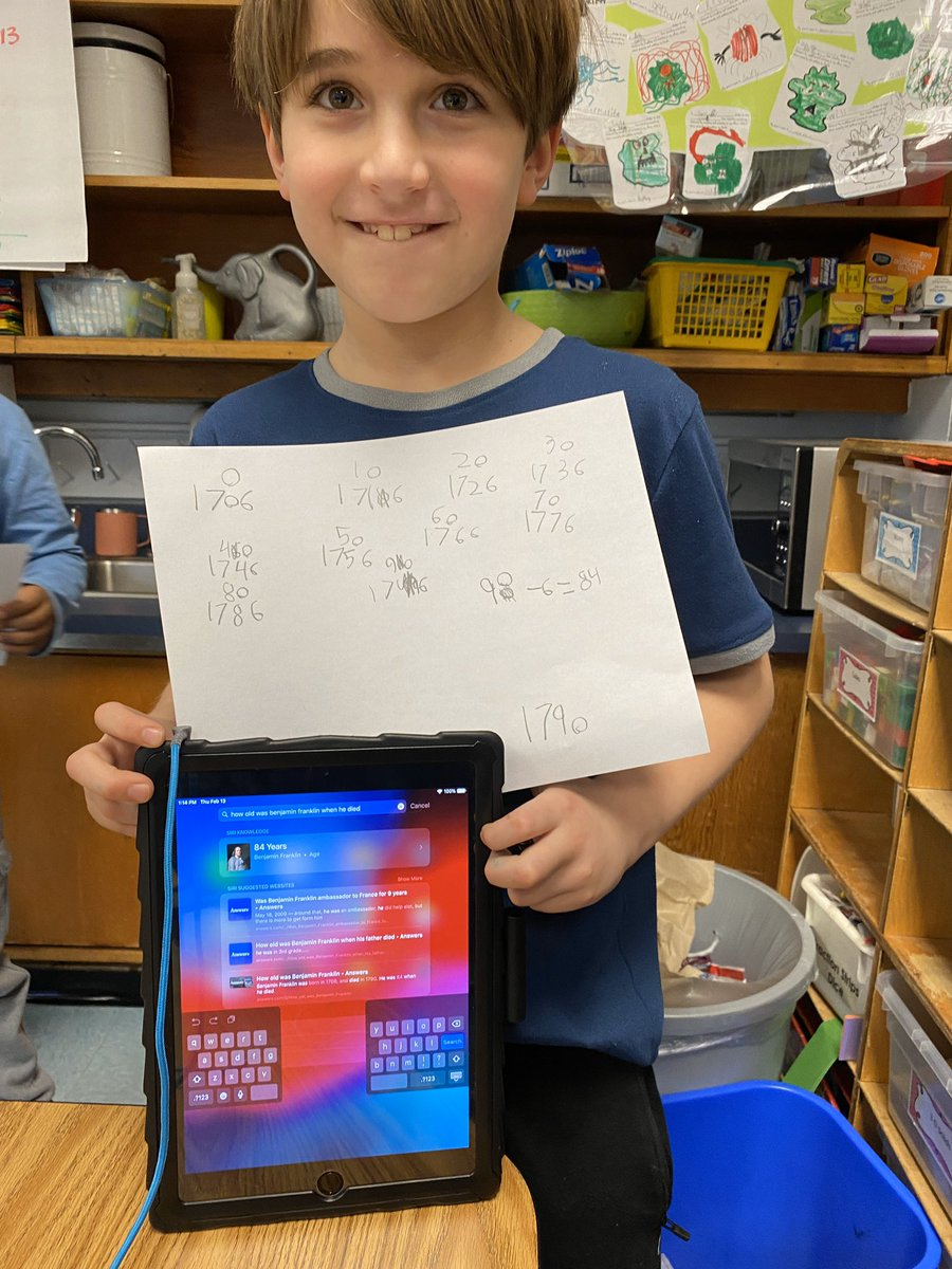 After learning about Ben Franklin and reading about him on PebbleGo, students were excited to extend their learning by making magnetic kites, calculating how long he lived, and drawing some of his key contributions <a target='_blank' href='http://twitter.com/CampbellAPS'>@CampbellAPS</a> <a target='_blank' href='http://twitter.com/APSsocstudies'>@APSsocstudies</a> <a target='_blank' href='https://t.co/1RPXXNHQ4S'>https://t.co/1RPXXNHQ4S</a>