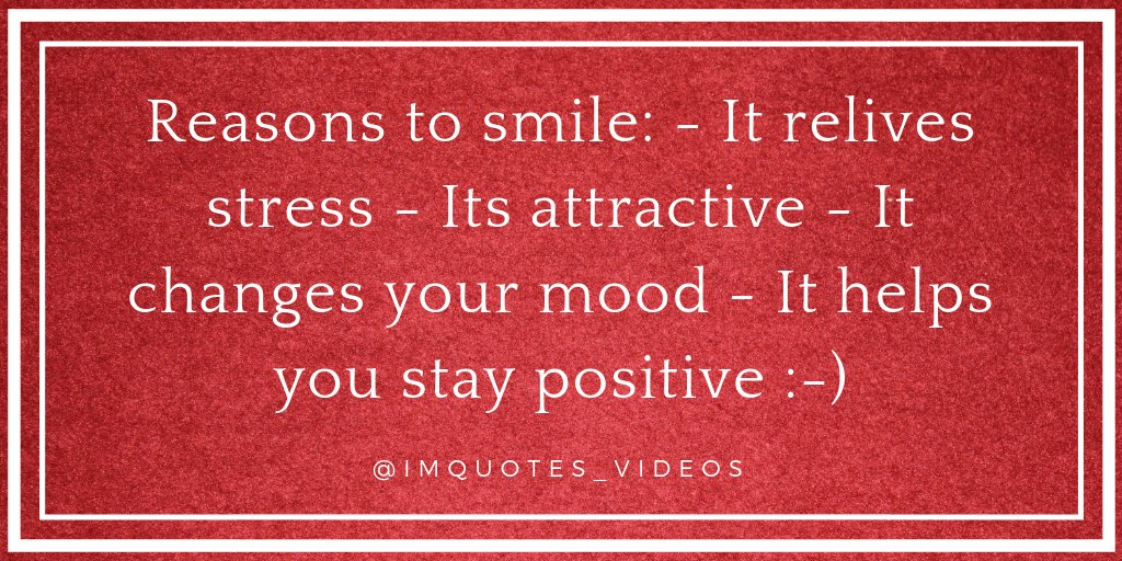 RT IMQuotes_Videos: There are many reasons to smile.  #FridayFeeling  #Motivation #Personal Growth
