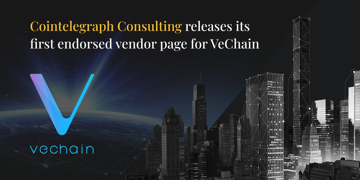 VeChain is happy to be a part of this partnership to provide blockchain technology for more enterprise users. Through both professional consulting and our top-of-the-line technology, we are confident to drive mass adoption of blockchain together with @Cointelegraph Consulting.
